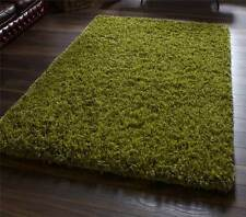 Green Hand Tufted Wool & Viscose Super Heavy Weight Luxury Shaggy Rug
