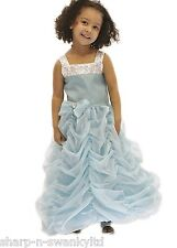 Girls Blue Ballgown Frozen Princess Bridesmaids Fancy Dress Party Costume Outfit