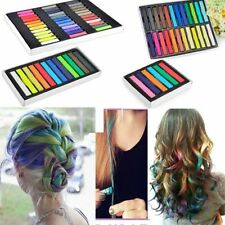 6/12/24/36 Colours Temporary DYE SALON KIT SOFT Hair Chalks Pastels Wash-Out HOT