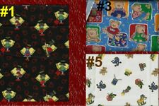 TEACHER Book Apple Angel Baby Bears Dogs School Bus Sewing Quilt Fabric Material