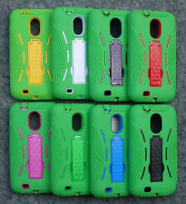 Samsung Galaxy S2 II SCH-R760 Phone Cover Case With KICK Stand ARMOR GREEN