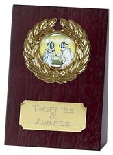 FENCING WOODEN WEDGE TROPHY INCLUDING YOUR ENGRAVING Choice of 2 Sizes NEW