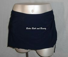 Jaclyn Smith Plus Size Side Tie Swim Suit Skirt Skirtini Size Navy Blue NWT