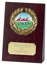 "TUG OF WAR Wooden Wedge Trophy 4"" or 5.25"" FREE ENGRAVING Personalised Award New"