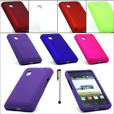 For LG 840G Tracfone Rubberized Hard Cover Phone Case + Free Stylus Pen