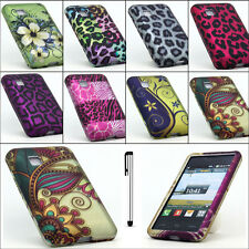 For LG 840G Tracfone Cool Designs Rubberized Hard Cover Case + Free Stylus Pen