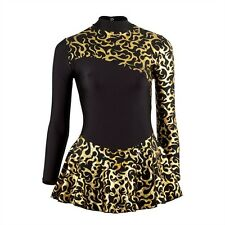 New Dance Skating Dress Skate Foil Print Competition Freestyle Disco Costume