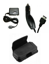 Leather Case + Car + Home Charger for Tracfone T-Mobile Verizon Samsung Phones