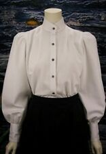 FRONTIER CLASSICS WHITE Victoria Blouse Cowgirl Dickens SASS Steampunk
