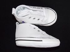 Converse Chucks Taylor baby crib first shoes All Star new white