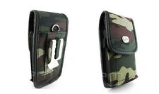 Camo Heavy Duty Rugged Canvas Carrying Side Belt Loop Case Cover Pouch Clip
