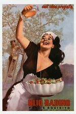 Olive Oil Kitchen Restaurant Italia Italy Food Vintage Poster Repro FREE S/H