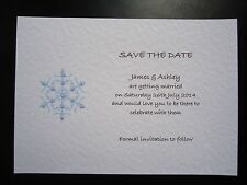 Handmade Wedding/Evening/Party Save The Date Cards - Snowflake - VARIOUS COLOURS