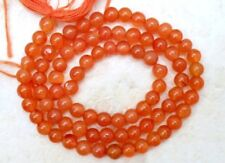 Natural 4.5mm/5.5mm Round CARNELIAN Loose Gemstone Beads Strand Pick-A-Size