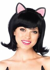 Sexy Kitty Kat Cat Short Bob Wig with Attached Ears and Adjustable Elastic Strap