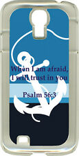 Striped Anchor with Psalm 56:3 on Samsung Galaxy S4 Hard or Rubber Case Cover