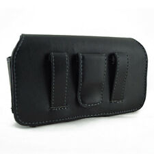 New Premium Leather Cover Case Pouch Side Clip Southern LINC and TracFone Phones