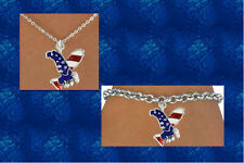 USA EAGLE  American Patriotic Flag Military Red White Blue July 4th Day  Jewelry