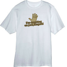 I'm Counting on You, Fingers! Funny Novelty T Shirt  Z12958