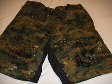 USMC MARINES AMPHIBIOUS RECON MARPAT MMA PT BOARD SHORT FIGHT SHORTS SIZES S-3XL