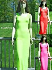 NWT SHEER LINGERIE LONG TANK TOP GOWN DRESS O/S S M L 90 160LBS