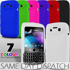 SILICONE SKIN CASE COVER & SCREEN PROTECTOR FOR BLACKBERRY BOLD 9790