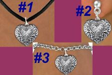 HEART Western Crystal Pendant Cowgirl Love Valentine Mother Rodeo Trendy Jewelry