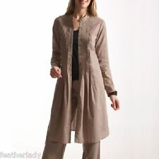 VENTILLO by la redoute WOMANS ladies BEIGE rose RED long tunic dress coat sz 10