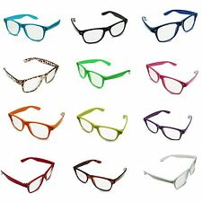 Fashion Retro Vintage Clear Lens Frame Wayfarer Fancy Dress Nerd Geek Glasses UK