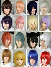 HOT Sell! 16 Colors Popular New Short Straight Cosplay wig  D.019