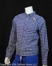 Abercrombie & Fitch Men's Shirt Long Sleeve Plaids Navy NWT