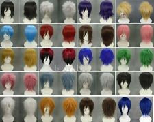 Hot sell ! 20 Colors New Fashion Short Straight Wig Cosplay Party Wigs