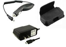 AC DC Travel Home Wall + Car Charger + Holder Case Pouch for MetroPCS Phones