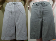 KAREN SCOTT white,green cargo pocket drawstring waist shorts,8,20W,22W,24W