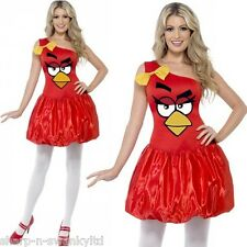 Ladies Red Angry Birds Sexy Hen Do Licensed Official Fancy Dress Costume Outfit