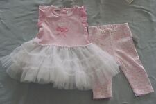 "Infants 2-piece set      Top w/net skirt & Tights      ""Hi/Lo""     NWT"