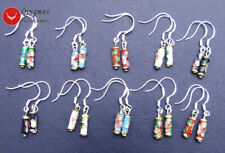 SALE Wholesale 10X Pairs multicolor knobble Cloisonne earrings-108 Free shipping