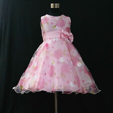 P3211 Pinks Communion Churches Princess Party Flower Girls Dress SZ 3,4,5,6,7,8T