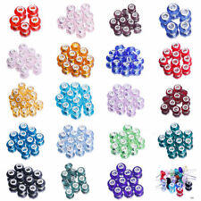 Hot! 10x Faceted Glass Murano Spacer European Beads DIY Bracelet Pendant Jewelry