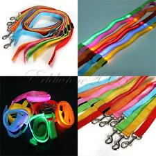 LED Flashing Light Dog Harness Pet Rope Belt Safety Glow Leash Lead Glow 6 Color
