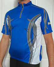 Jaggad Cycling bike Jersey shirt Blue Mens Ladies womens Uni Size S M L XL XXL