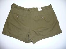 Old Navy Womens Size 2 Low Rise Green Tie Shorts NWT