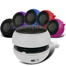 WHITE 3.5MM CAPSULE SPEAKER FOR NUMEROUS PHONES PORTABLE RECHARGEABLE