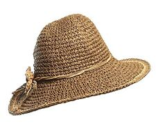 Woman Crushable Knitted Straw Beach Hat best Black Friday Deals
