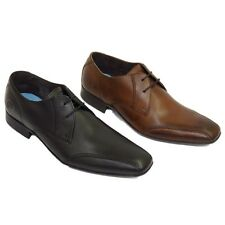MENS BLACK BROWN BASE LONDON INDENT MTO LEATHER LACE-UP FORMAL SHOES SIZE 6-12