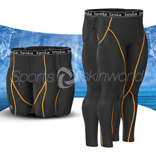 New Mens Compression Under Base Layer Gear Tight Wear Armour Pant and Shorts Set
