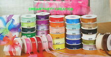 ORGANZA PLAIN SHEER Ribbon CHOOSE FROM 6 Sizes in 30 COLORS - 25 YARDS PER ROLL
