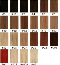 """AAA Color 18""""-36"""" DIY weave WEFT Remy Human Hair Extensions Full Head thick hair"""