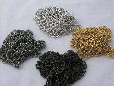 5 FEET ALUMINUM BULK CURB JEWELRY CHAIN OPEN LINK PLATED NON TARNISH 6x4MM