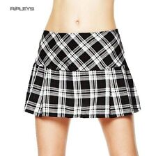 HELL BUNNY White TARTAN Mini Skirt EMO Club/Party All sizes